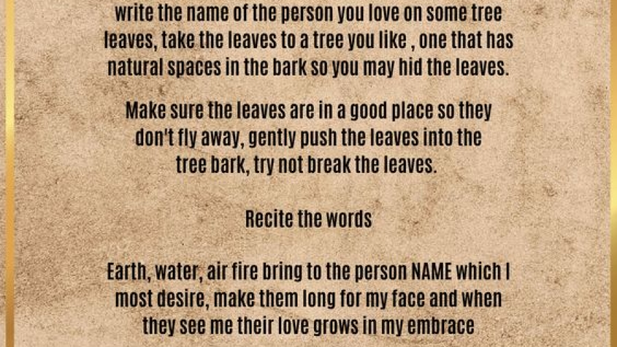 spell for some one to look for you