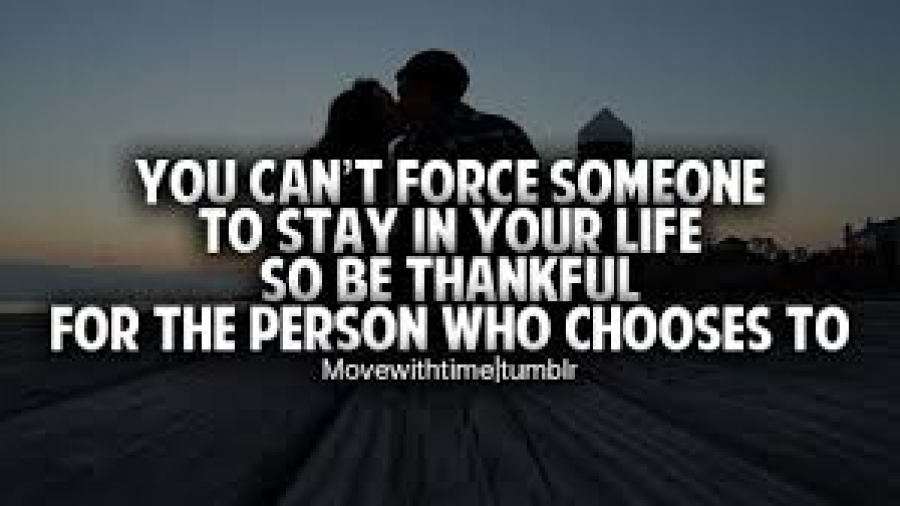 you can't force someone to be with you